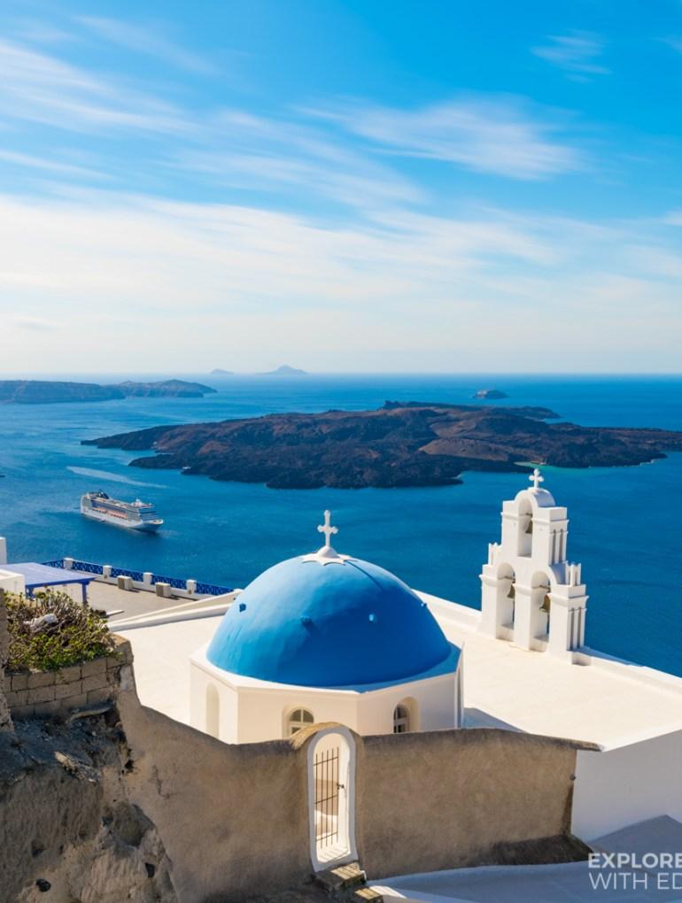 Incredible views from Fira over Santorini