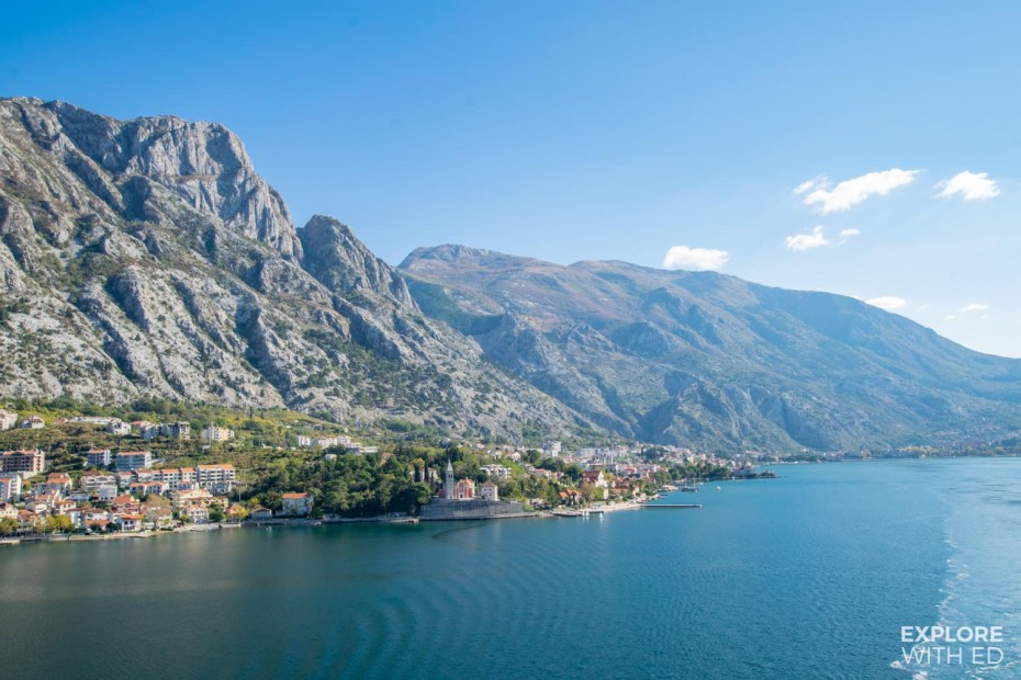 Pretty towns and villages along Kotor Bay