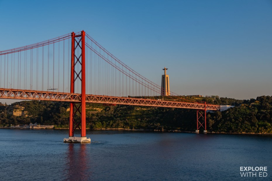 Cruising from Lisbon under the 25 de Abril bridge