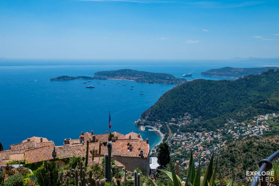 Bay of Villefranche-sur-mer from Eze Village