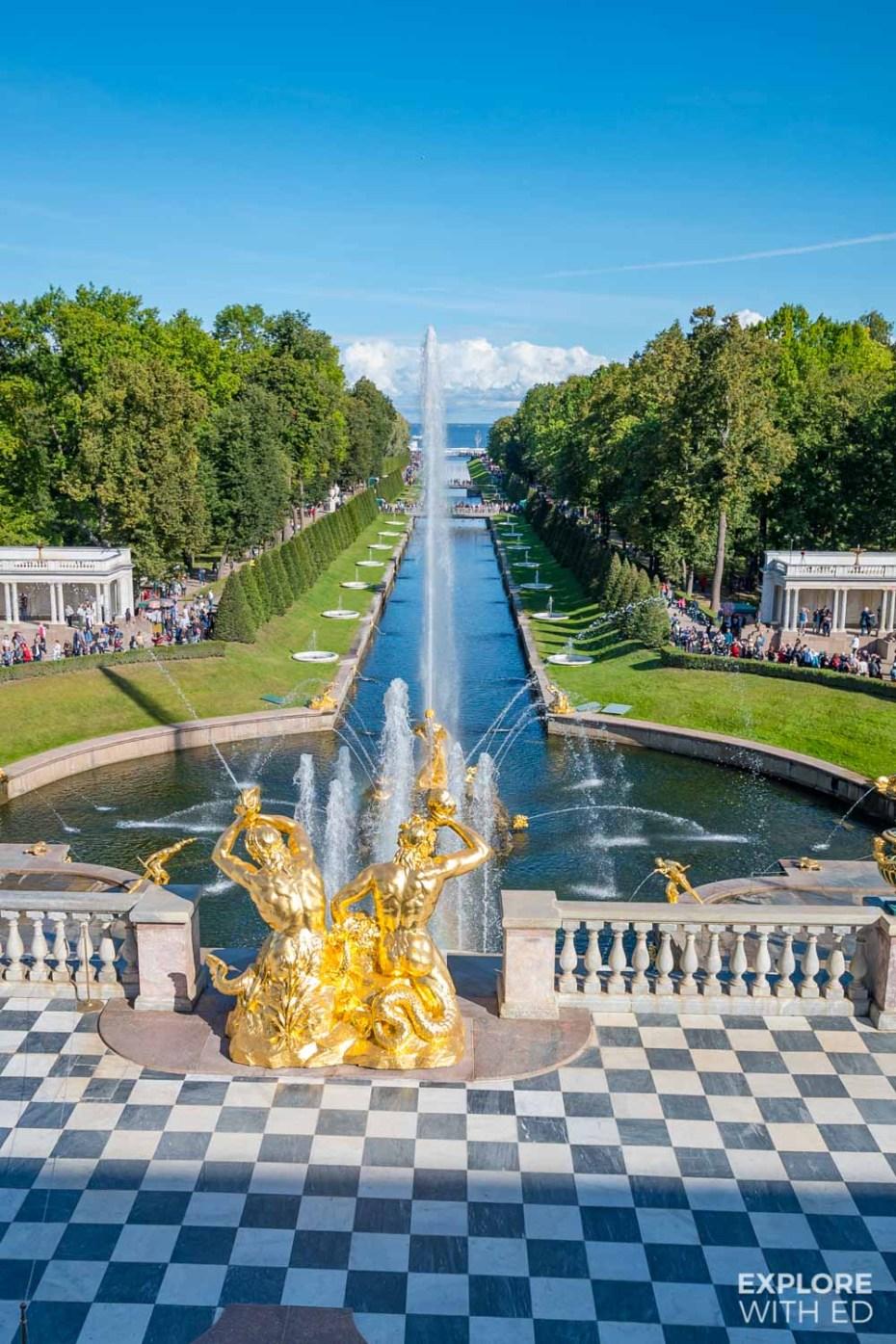Peterhof Palace gardens in St Petersburg