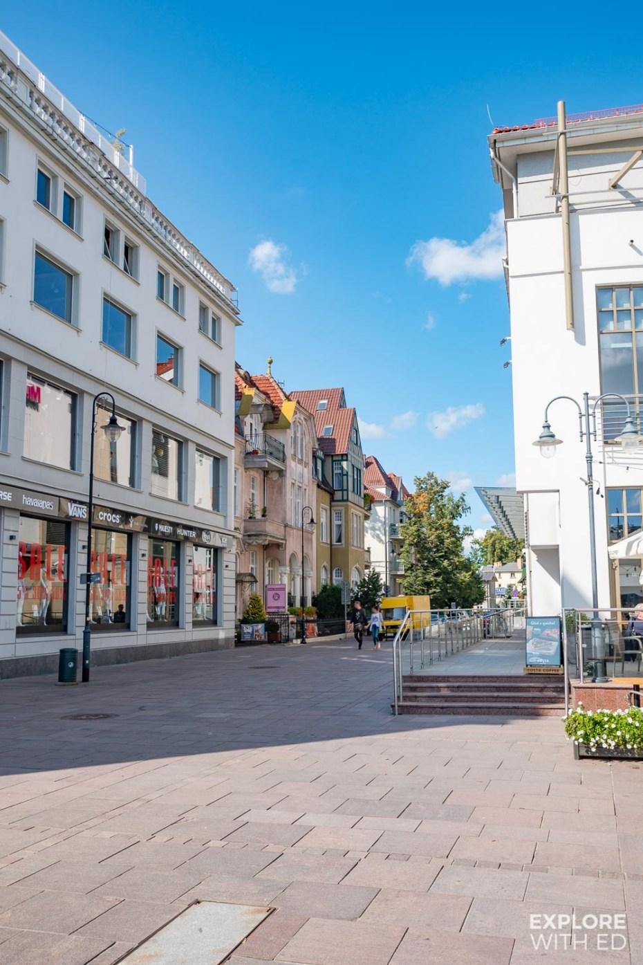 Shopping street in Sopot, Poland