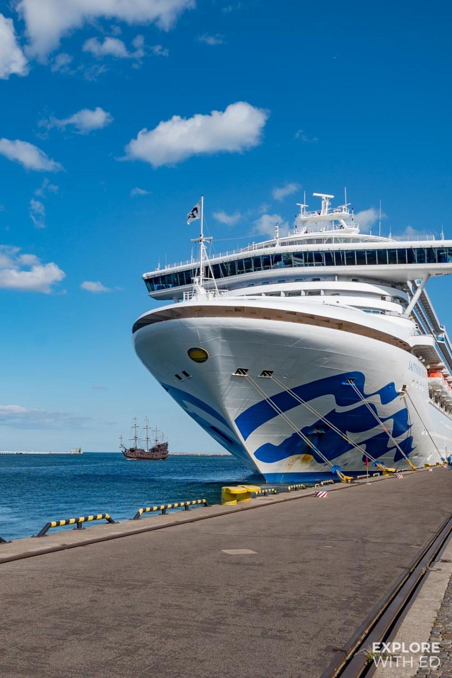 Cruise ship docked in Gdynia, Poland