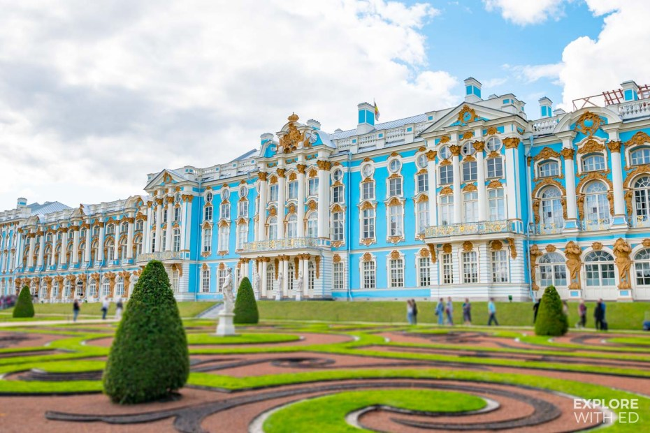The Catherine Palace and Gardens in Pushkin