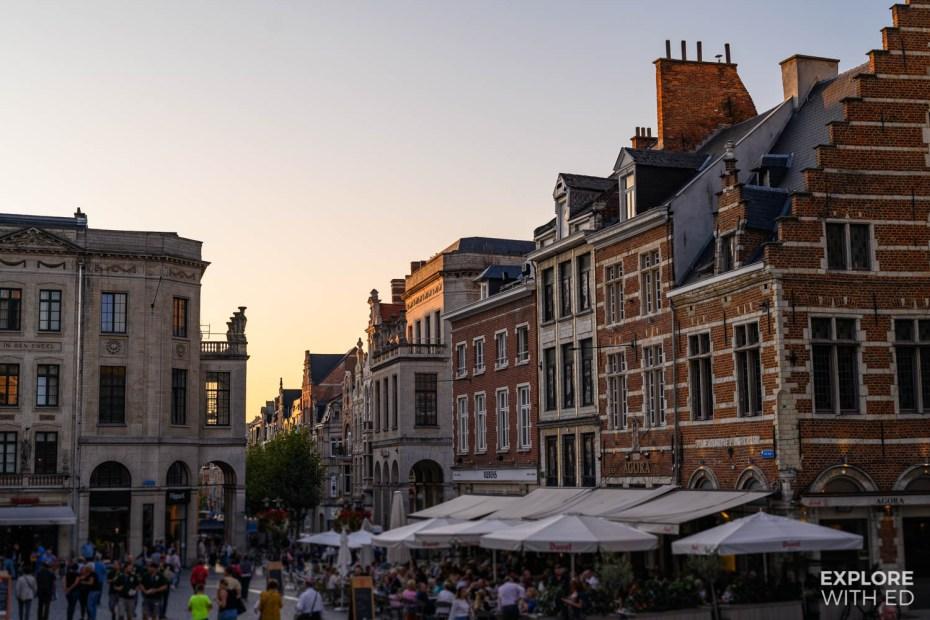 The Grote Markt in Leuven, Belgium