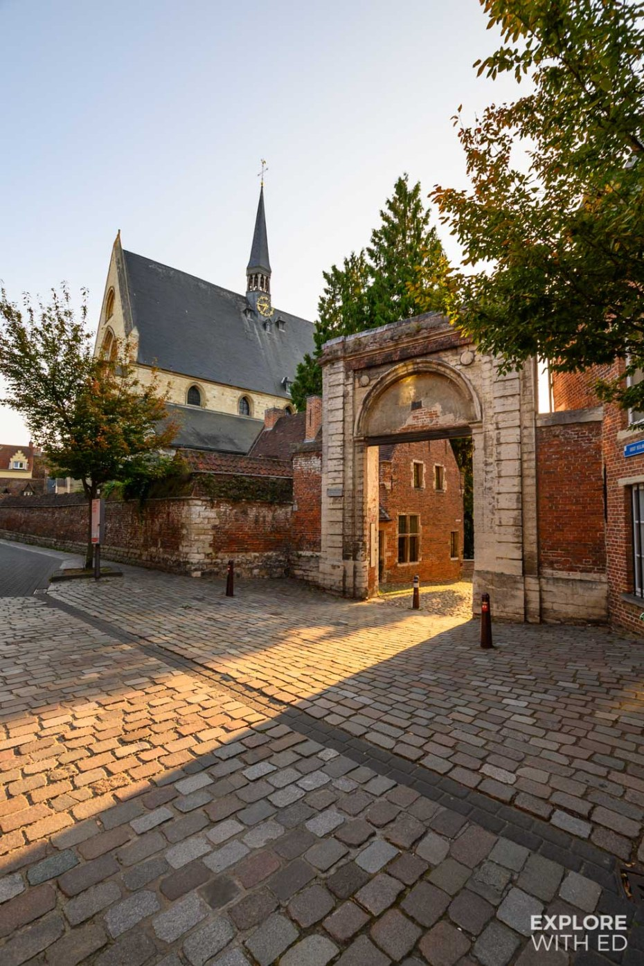Entrance to The Great Beguinage in Leuven, Belgium