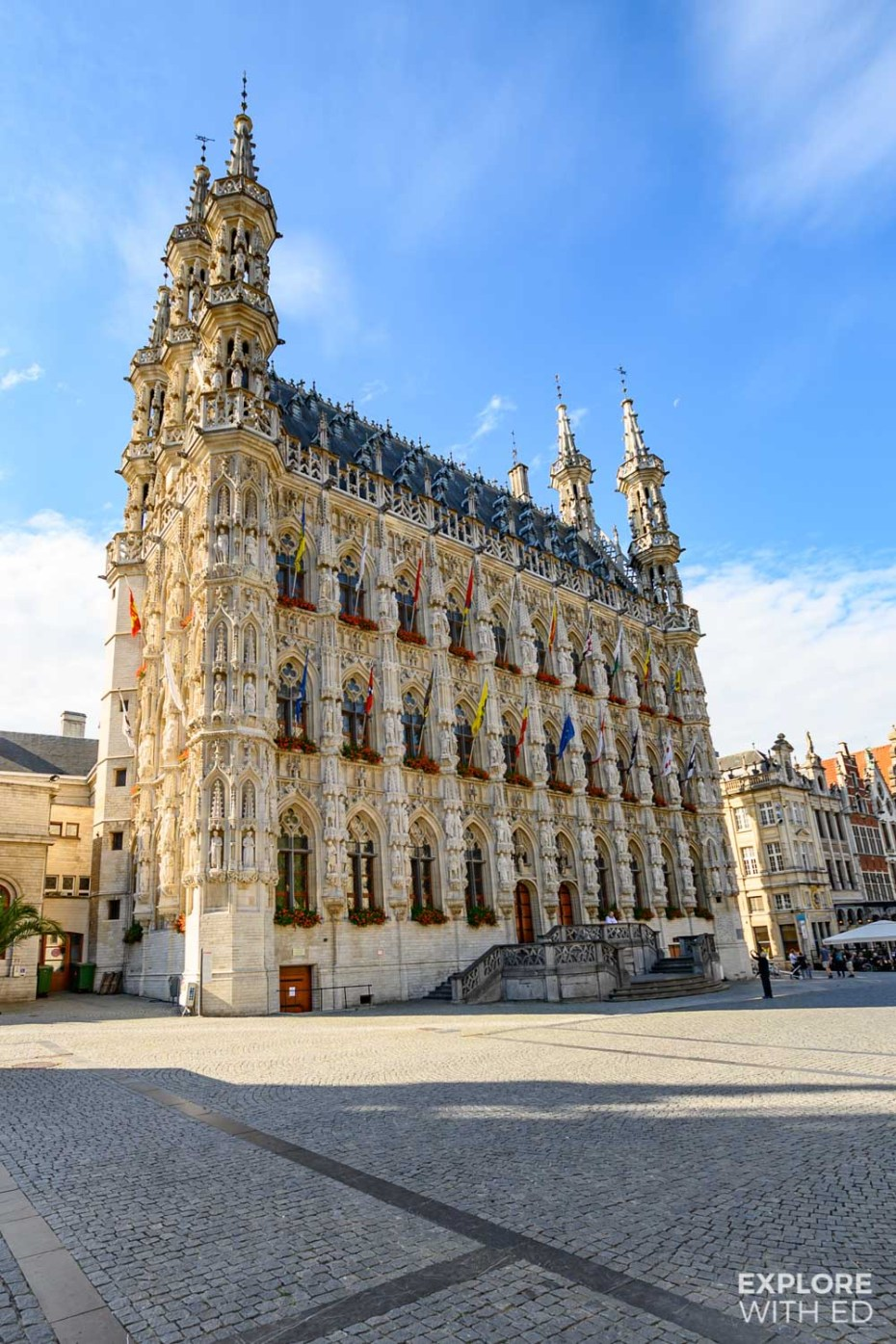 Leuven's beautiful Town Hall featuring 236 statues