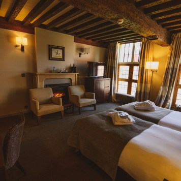 Cosy twin room at Martin's Klooster Hotel, Belgium