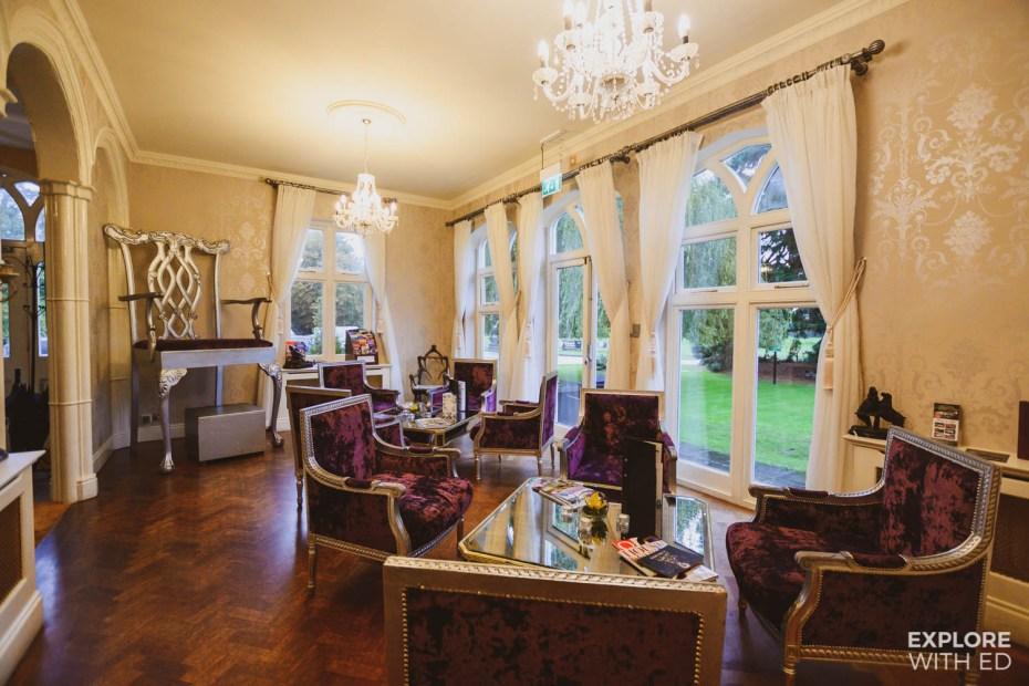 Lounge area of Llyndir Hotel