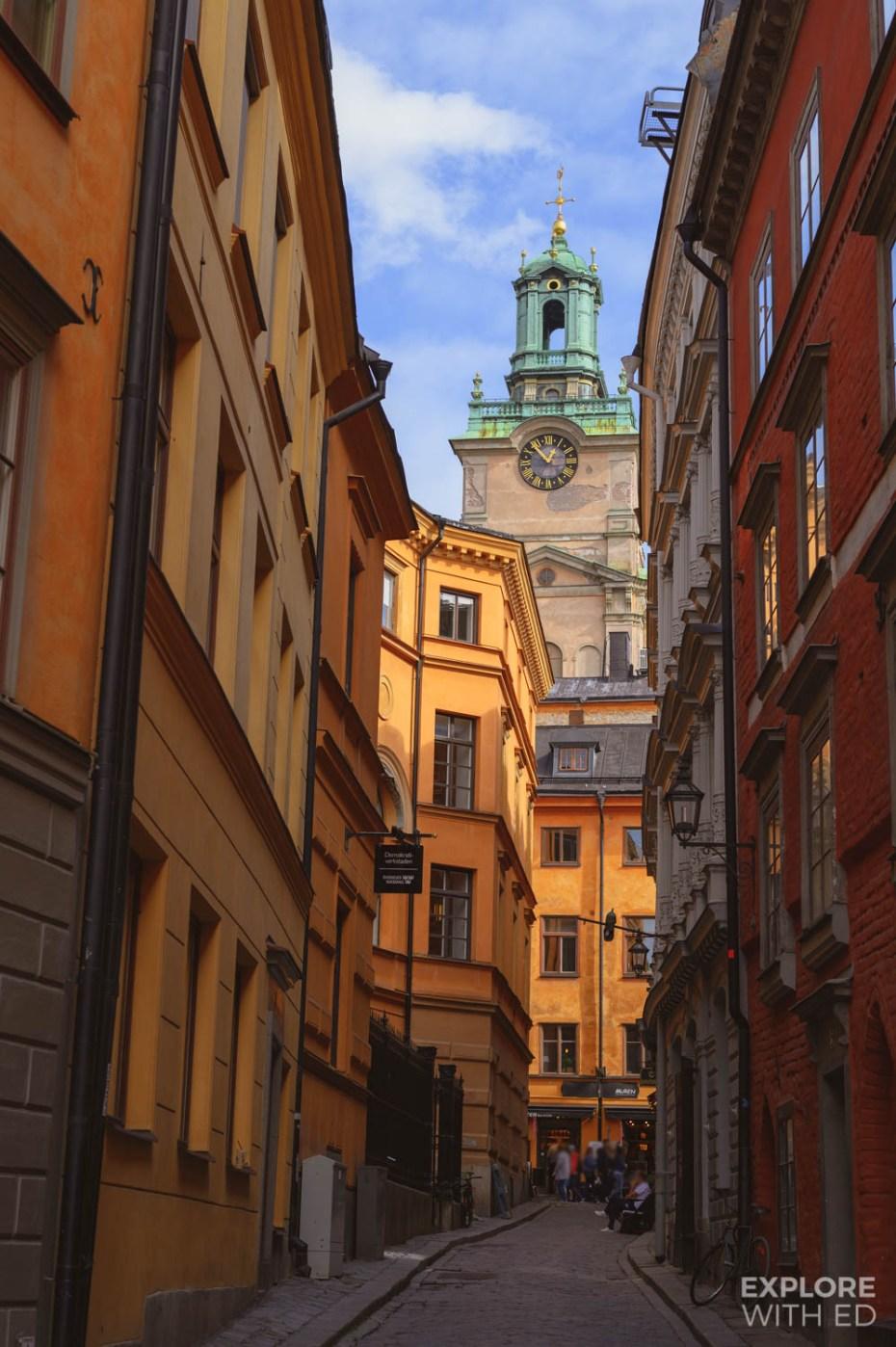 Enjoying 'fika' in Gamla Stan, Stockholm's Old Town