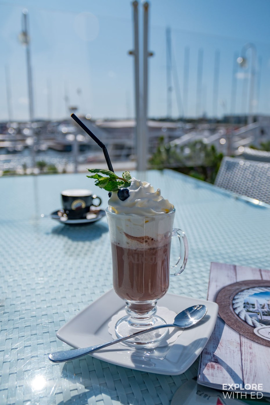 Hot chocolate from Meridian, Sopot Pier