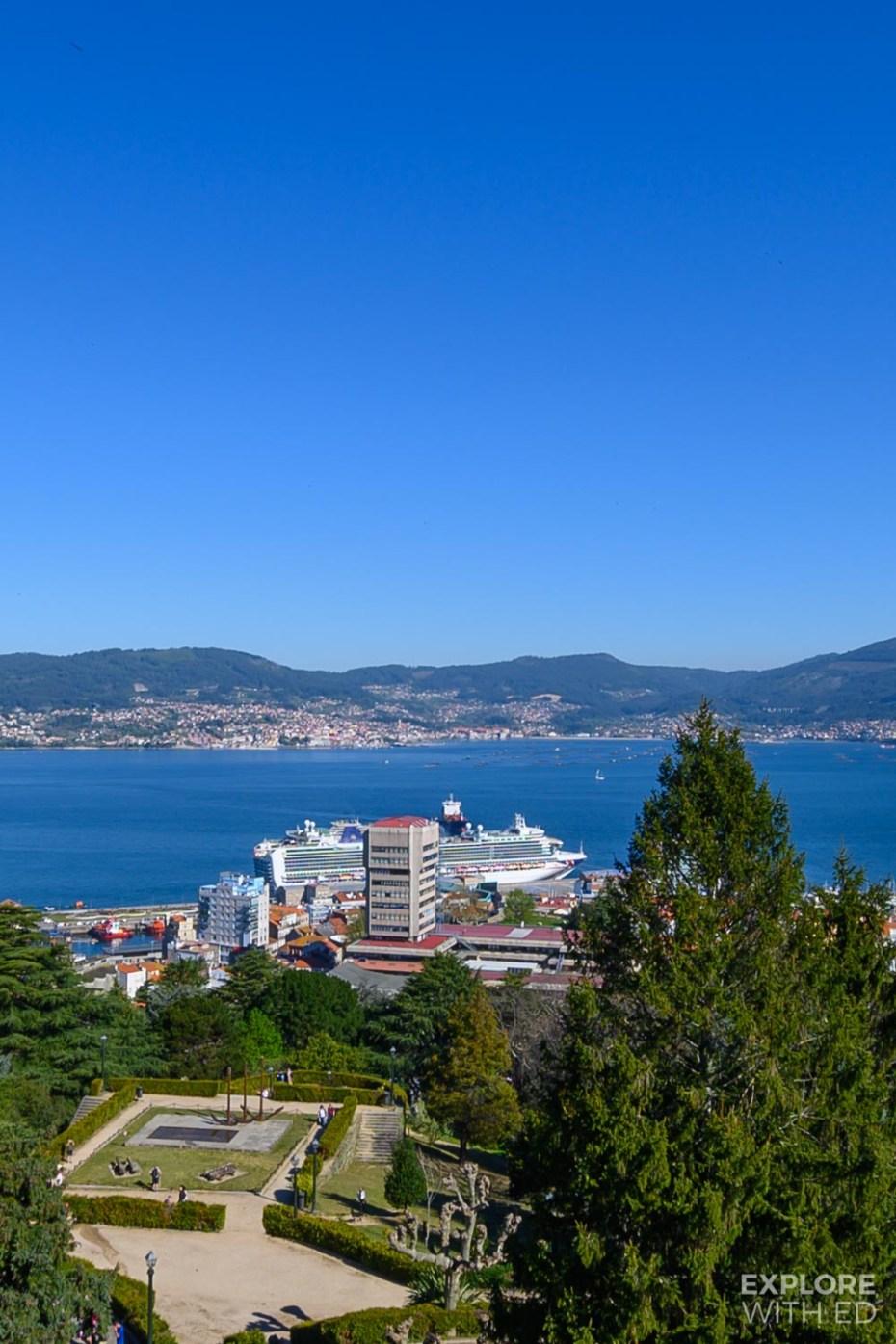 Cruising to the port of Vigo, Spain