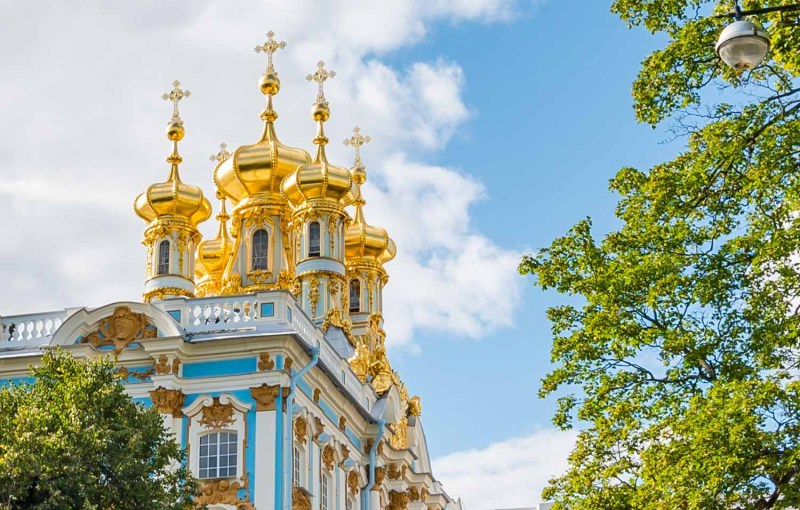 Gold rooftop on Catherine Palace
