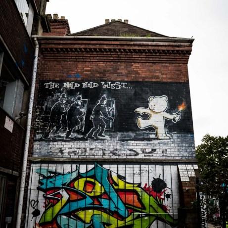 Banksy Mild Mild West Mural in Bristol