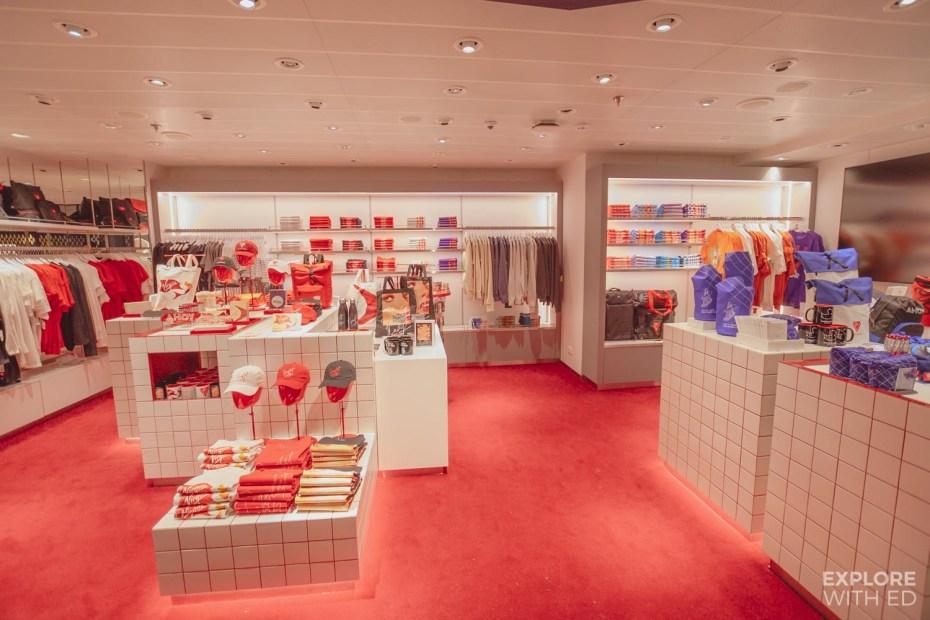 Virgin Voyages shop onboard Scarlet Lady