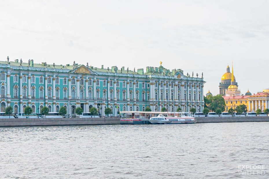 The Hermitage Museum as seen from the River Neva