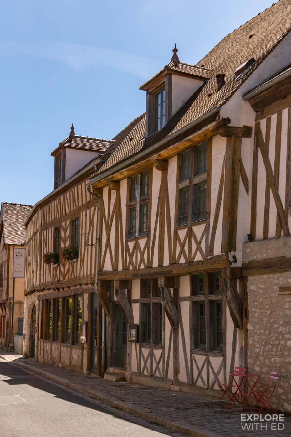 Characterful half timbered buildings in Provins, France