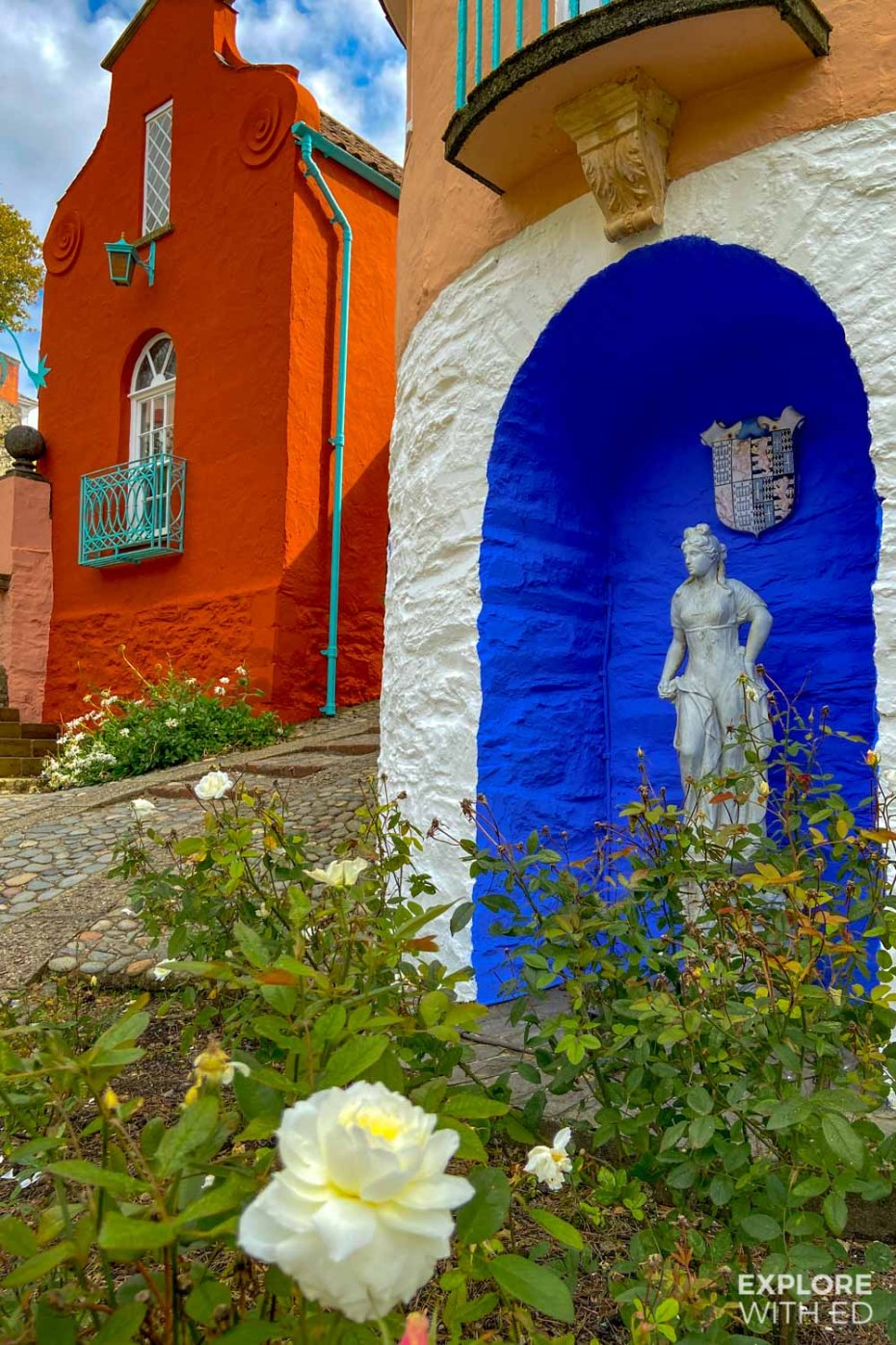Colourful buildings in Portmeirion
