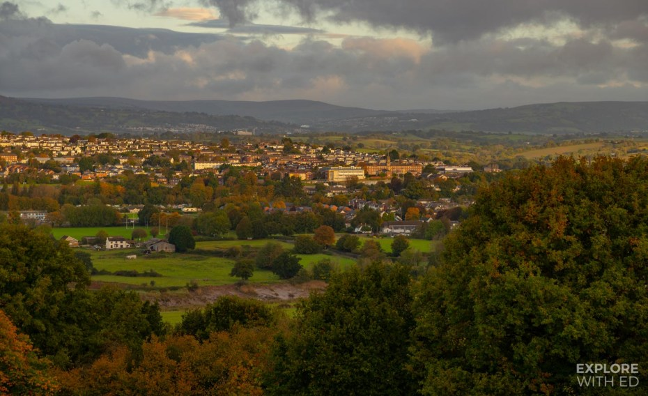 Christchurch viewpoint over Caerleon in Newport