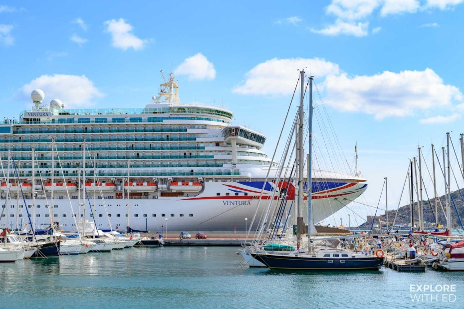 P&O Cruises Ventura docked in Cartagena, Spain [ad]