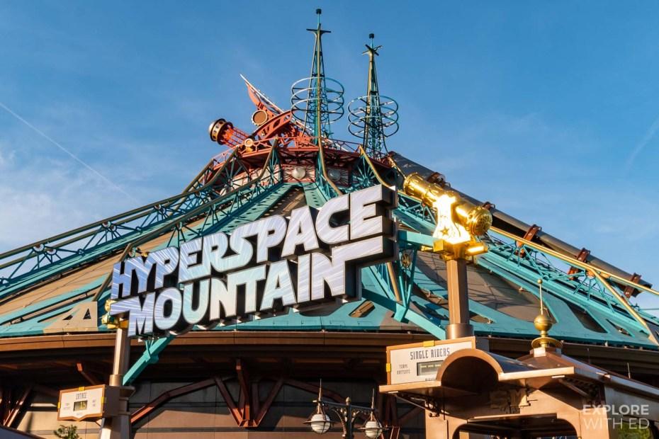 Disneyland Paris Hyperspace Mountain Rollercoaster