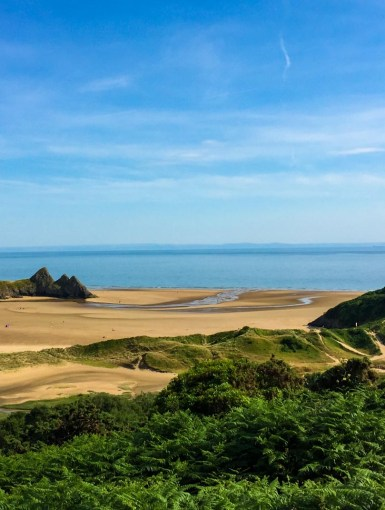 Three Cliffs Bay in Gower, Swansea