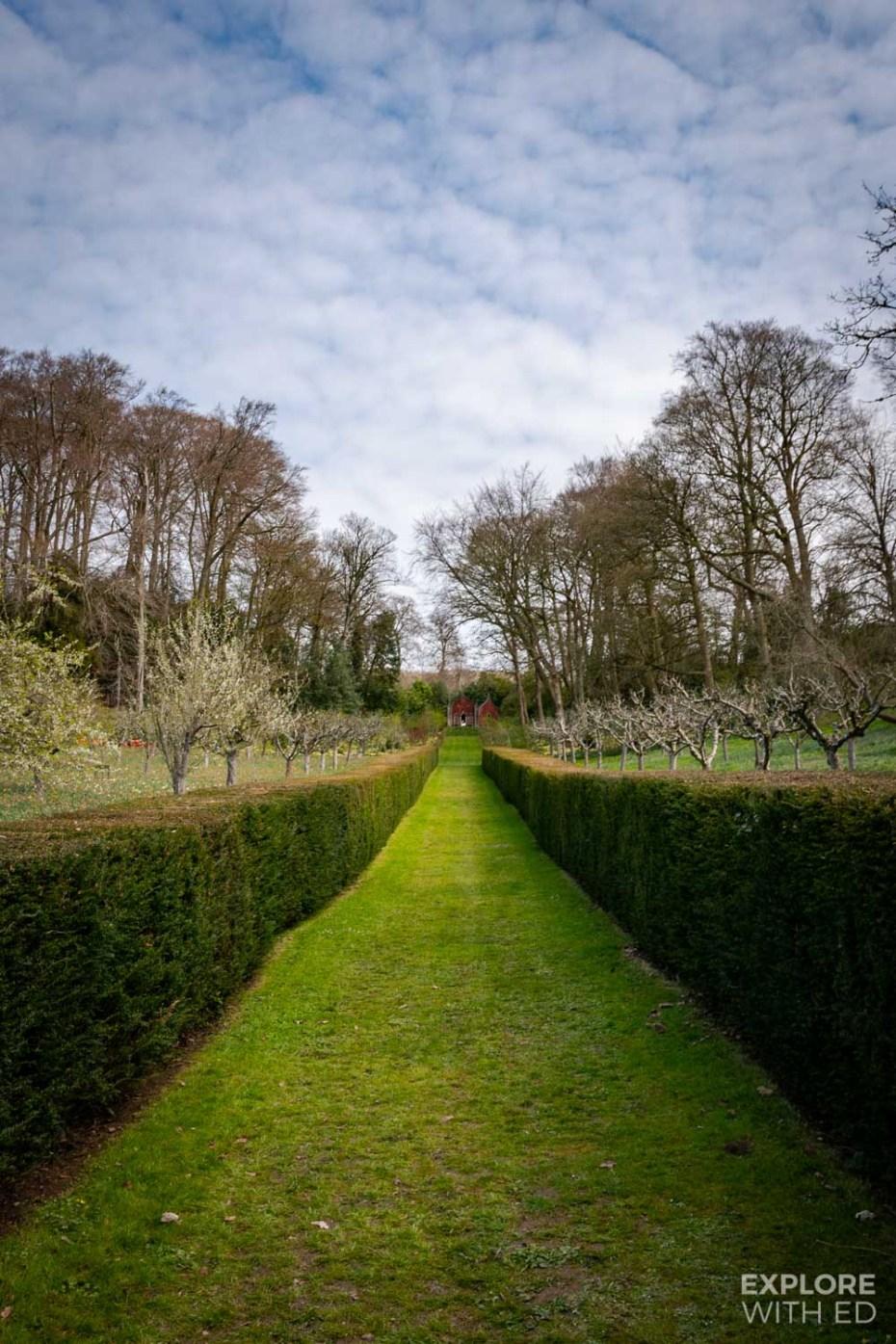 Painswick Rococo Garden lawn area
