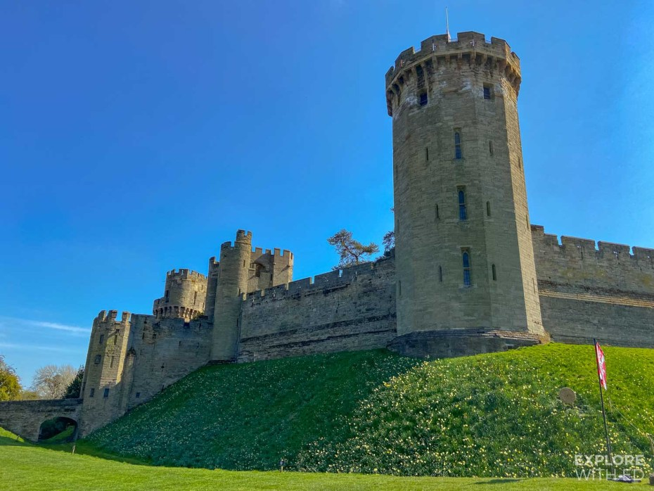 Warwick Castle towers and ramparts