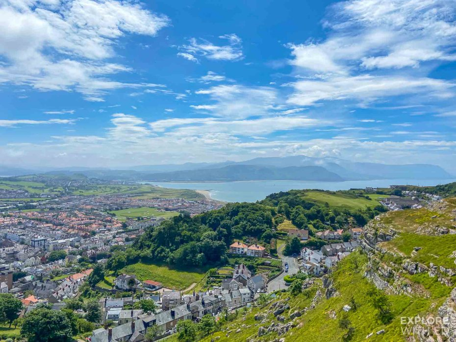 Llandudno Cable Car panoramic view over the town