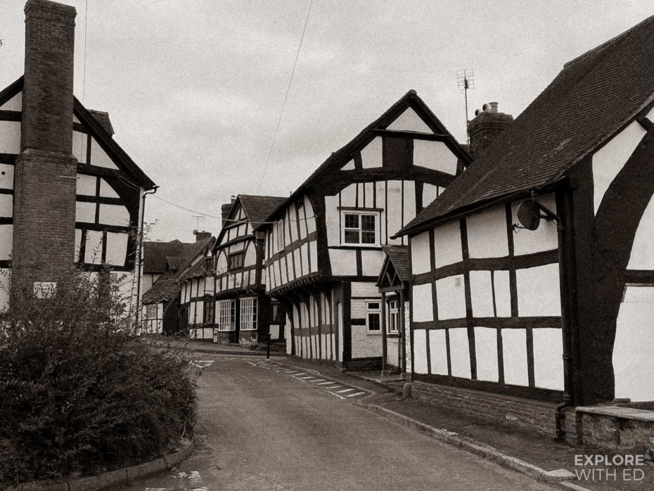 Weobley black and white village in Herefordshire