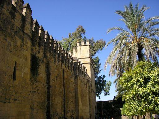 Exterior of Cordoba Alcazar castle