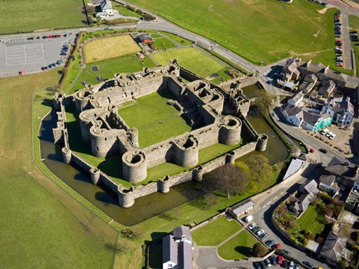 Beaumaris Castle Aerial View