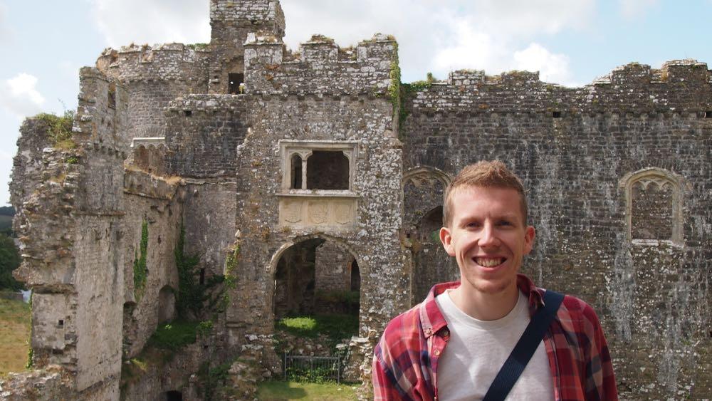 Me in Carew Castle