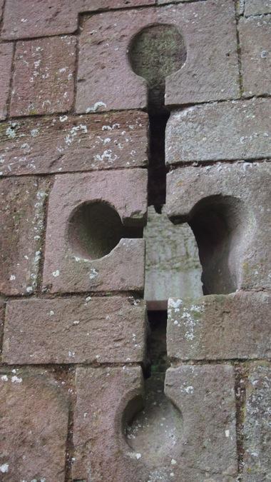 Castle gatehouse arrow loops