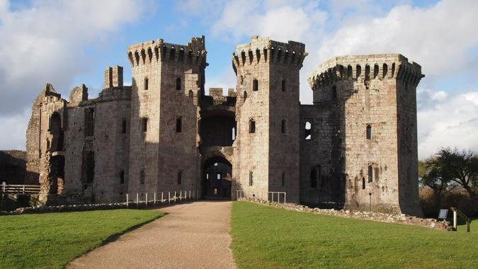 Raglan Castle gatehouse
