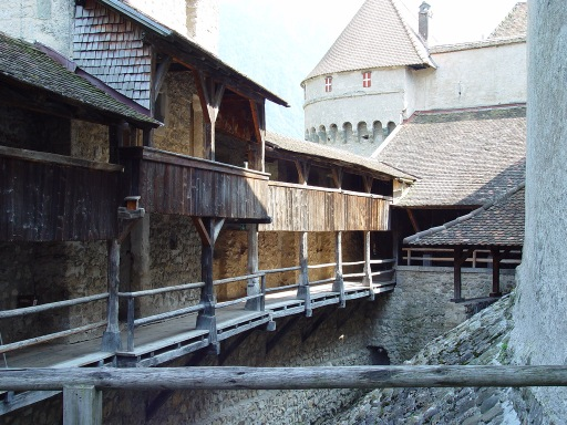Chillon Castle internal passageways