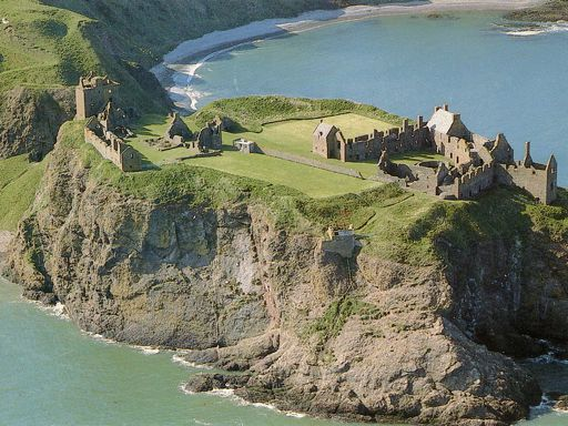 Dunnottar Castle aerial view