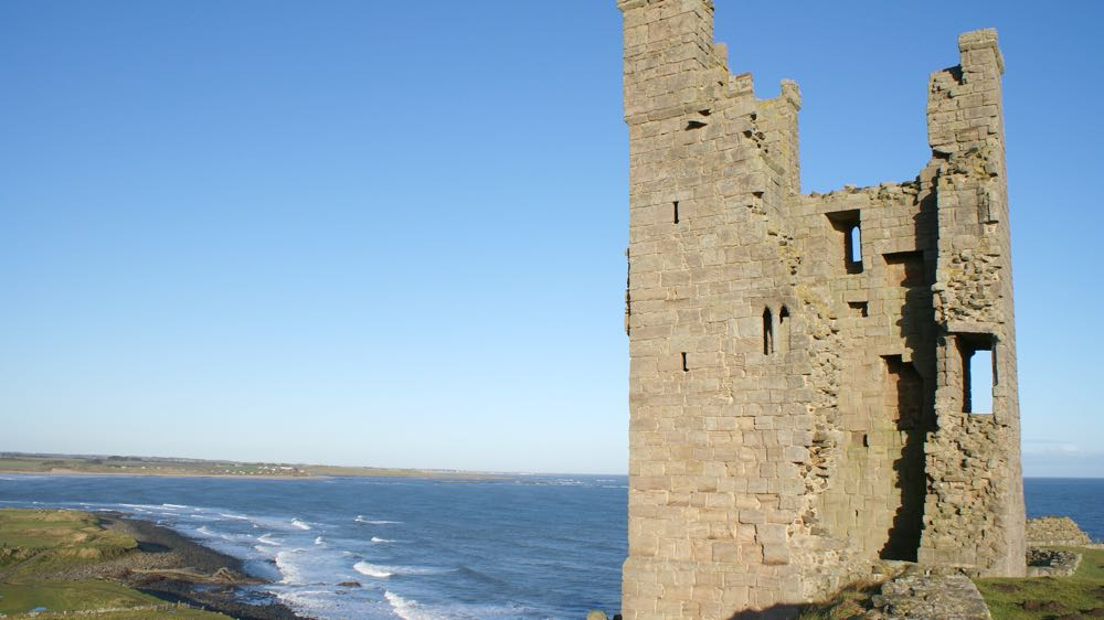 Lilburn Tower within Dunstanburgh Castle