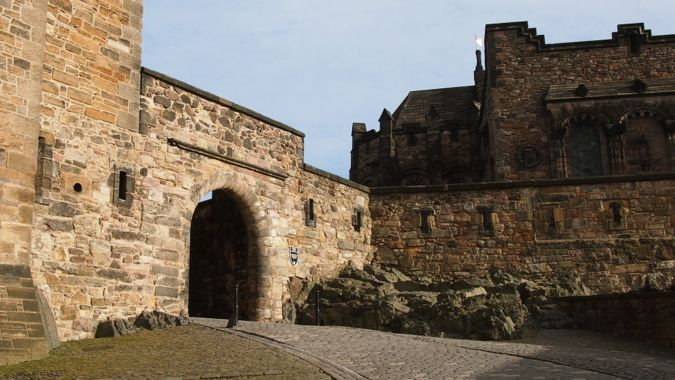 Archway within Edinburgh Castle