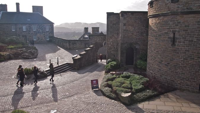 Misty Morning within Edinburgh Castle