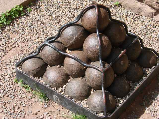 Cannonballs from English Civil War