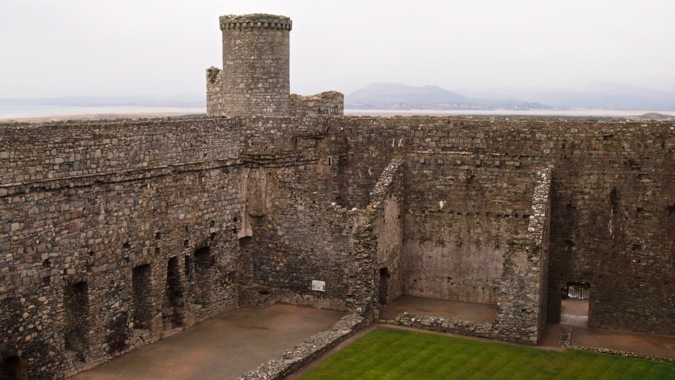 Courtyard of Harlech Castle