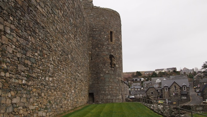 Walls of Harlech Castle