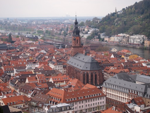 Heidelberg Town itself, as viewed from the castle
