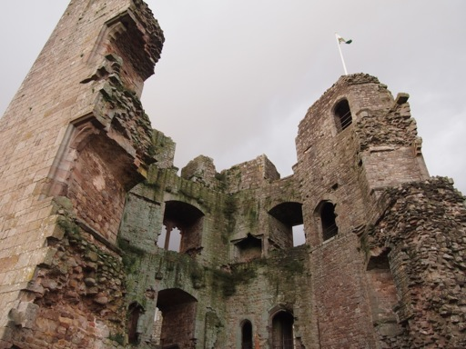 Innards of Raglan Castle great tower