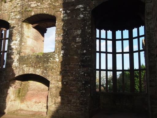 Oriel window within hall