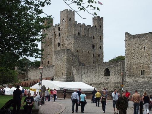 Exterior of Rochester Castle