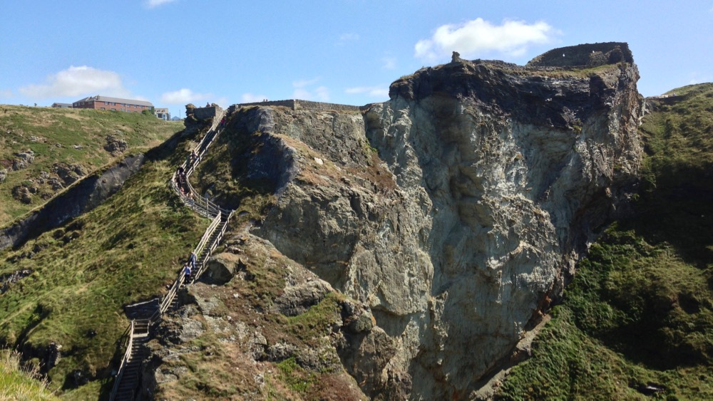Tintagel Castle cliff edge