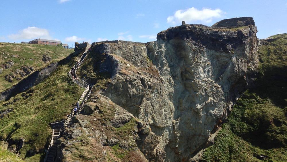 Tintagel Castle cliff edge