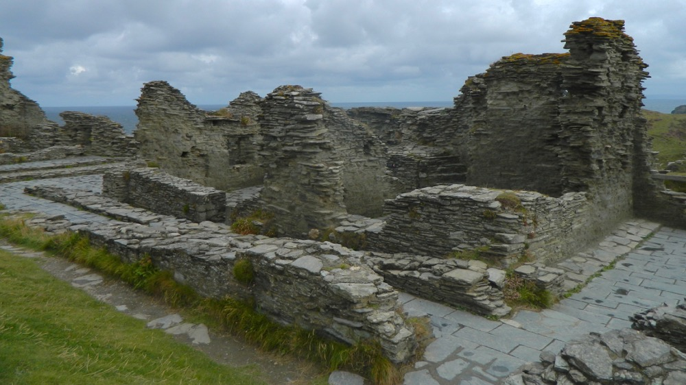 Remains of Tintagel Castle Great Hall